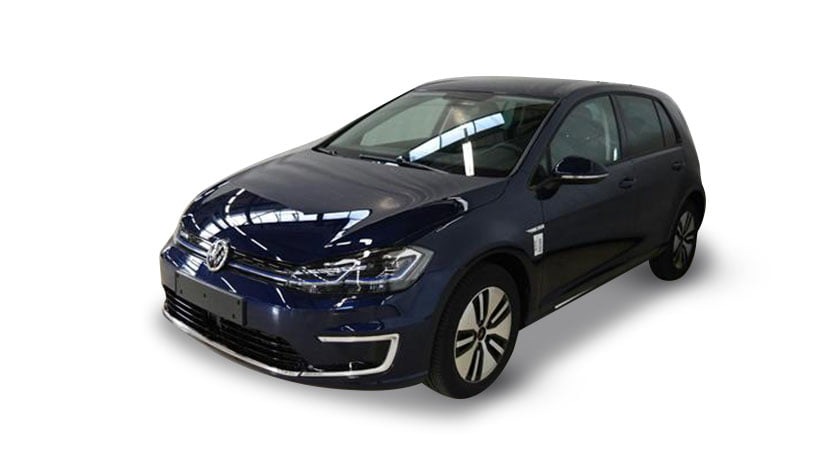 Volkswagen E Golf atlantic blue electric