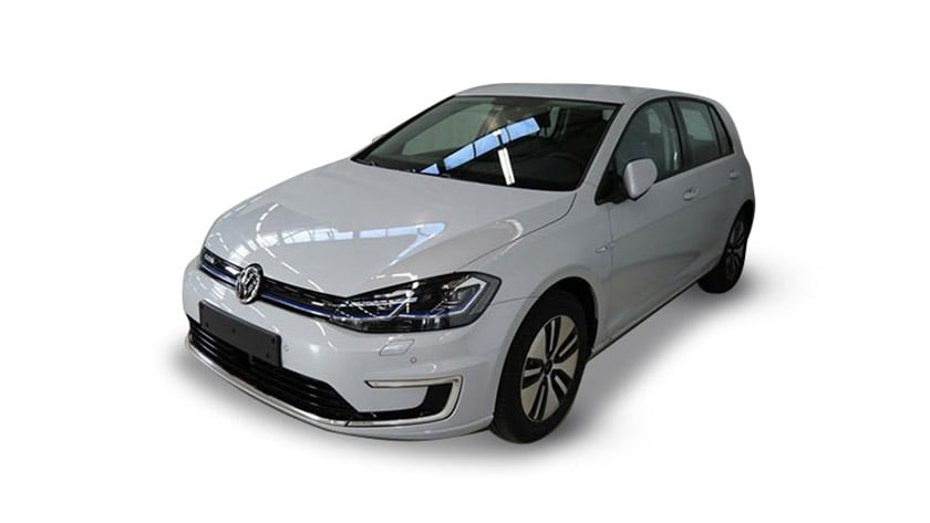 Volkswagen E Golf white electric